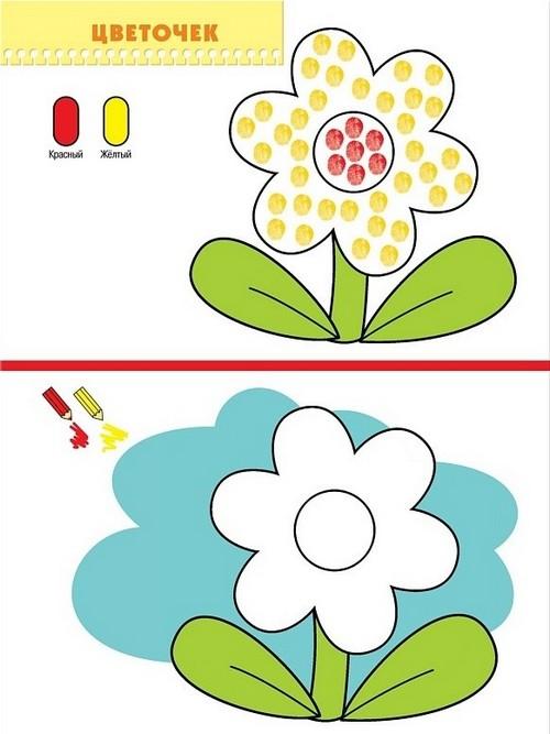 рисование с малышом 1-2 года